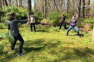 qigong outside group distanced